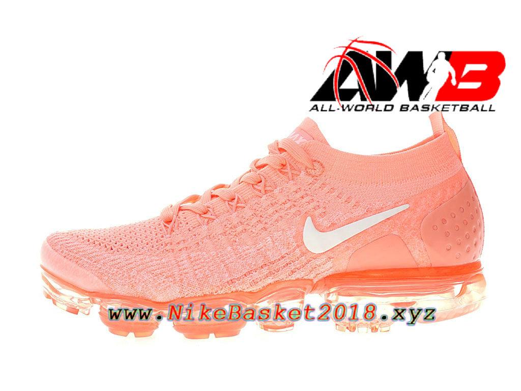 huge discount 51542 584dd Chaussure de BasketBall Pas Cher Pour Femme Enfant Nike Air VaporMax  Flyknit 2.0 W Rose ...