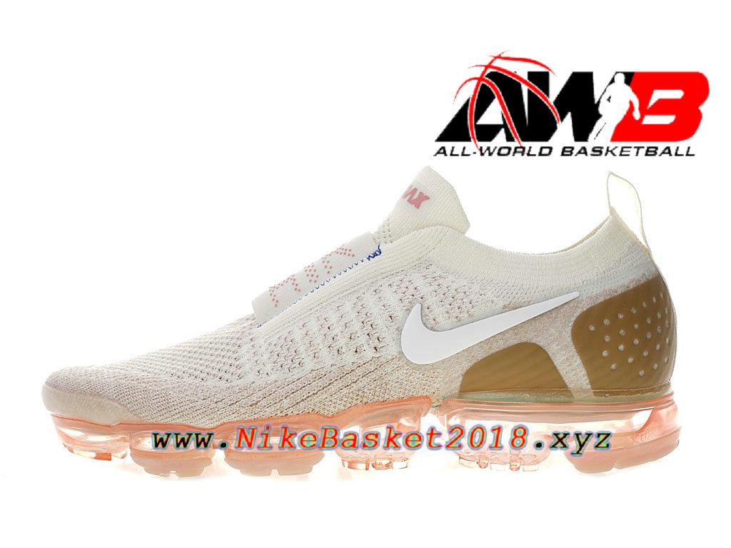 18711e793e5 Chaussure de BasketBall Pas Cher Pour Femme Enfant Nike Air VaporMax Moc 2  Blanc Brun ...