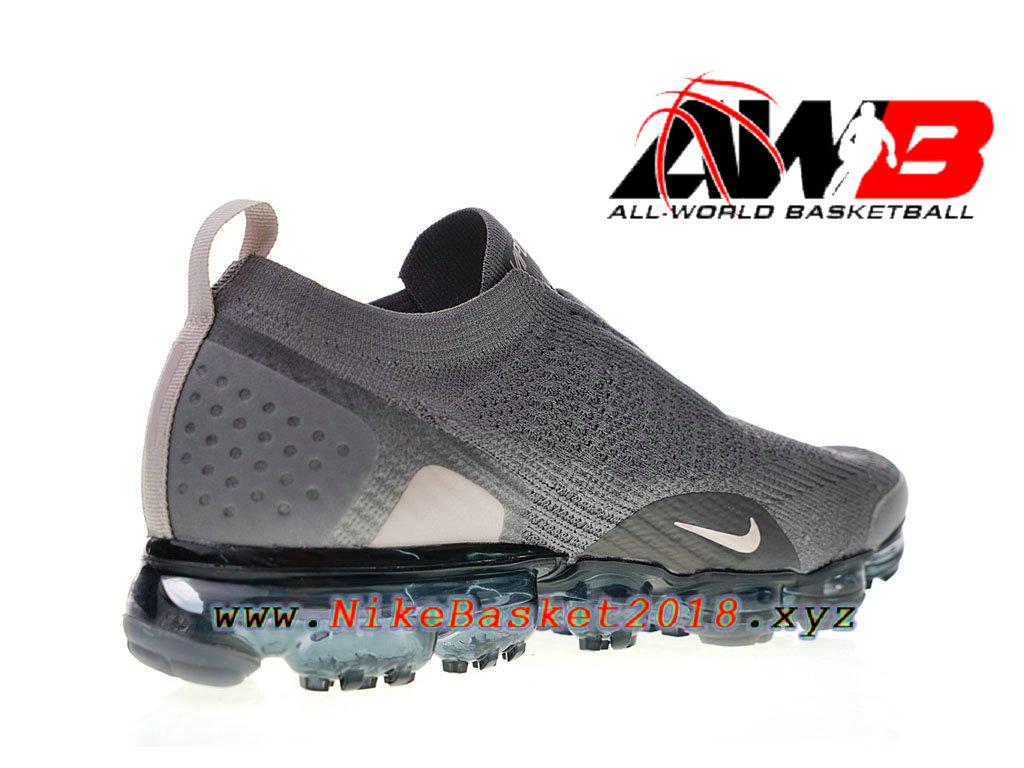 f7902e168cd ... Chaussure de BasketBall Pas Cher Pour Femme Enfant Nike Air VaporMax  Moc 2 Gris Noir ...