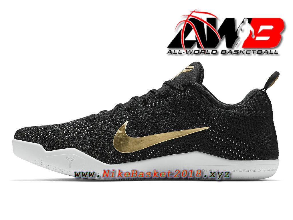 the latest f0d32 3b403 ... Chaussure de BasketBall Pas Cher Pour Homme Nike Kobe 11 Elite GCR Noir  Or 885869 070 ...