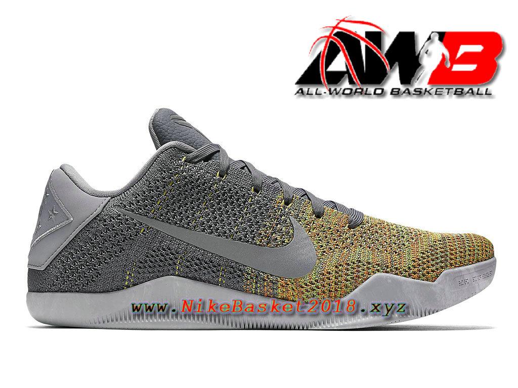 new arrival 9595d fc09a Chaussure de BasketBall Pas Cher Pour Homme Nike Kobe 11 Elite Gris Orange  822675_037 ...