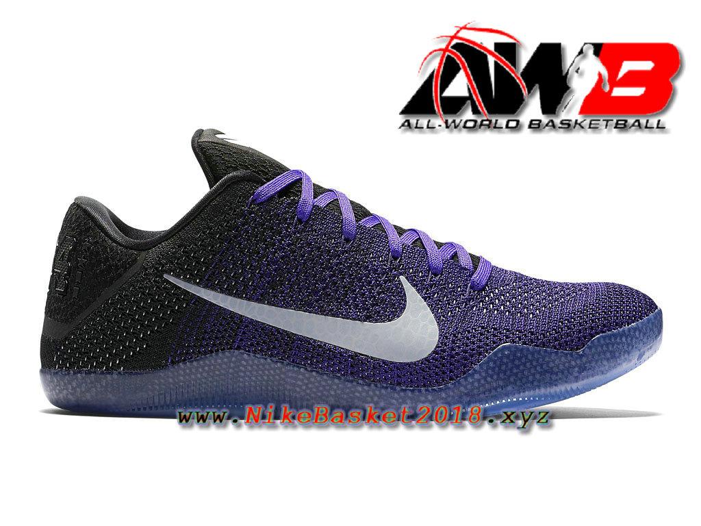 super popular bac9a e298b Chaussure de BasketBall Pas Cher Pour Homme Nike Kobe 11 Elite Low Violet  Noir 822675 510