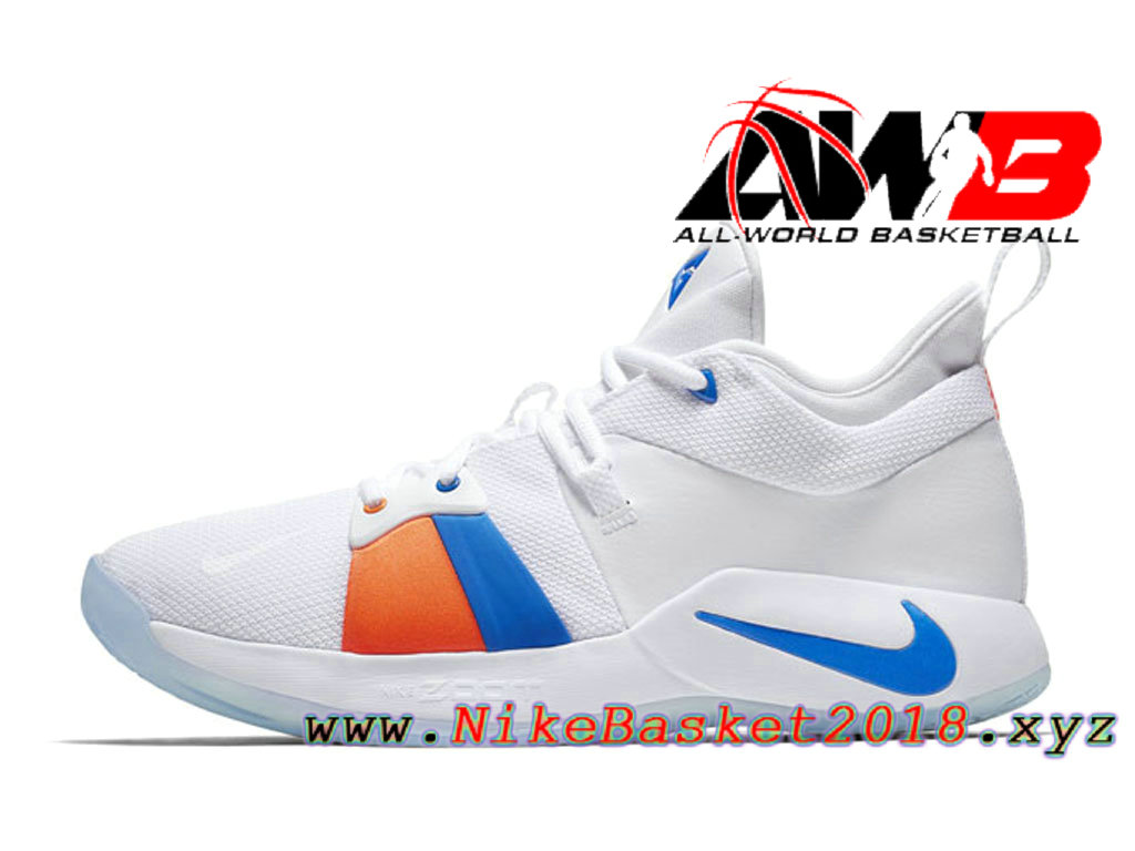 cheaper 651e9 01c18 Chaussure de BasketBall Pas Cher Pour Homme Nike PG 2 Blanc Bleu AO2984-100