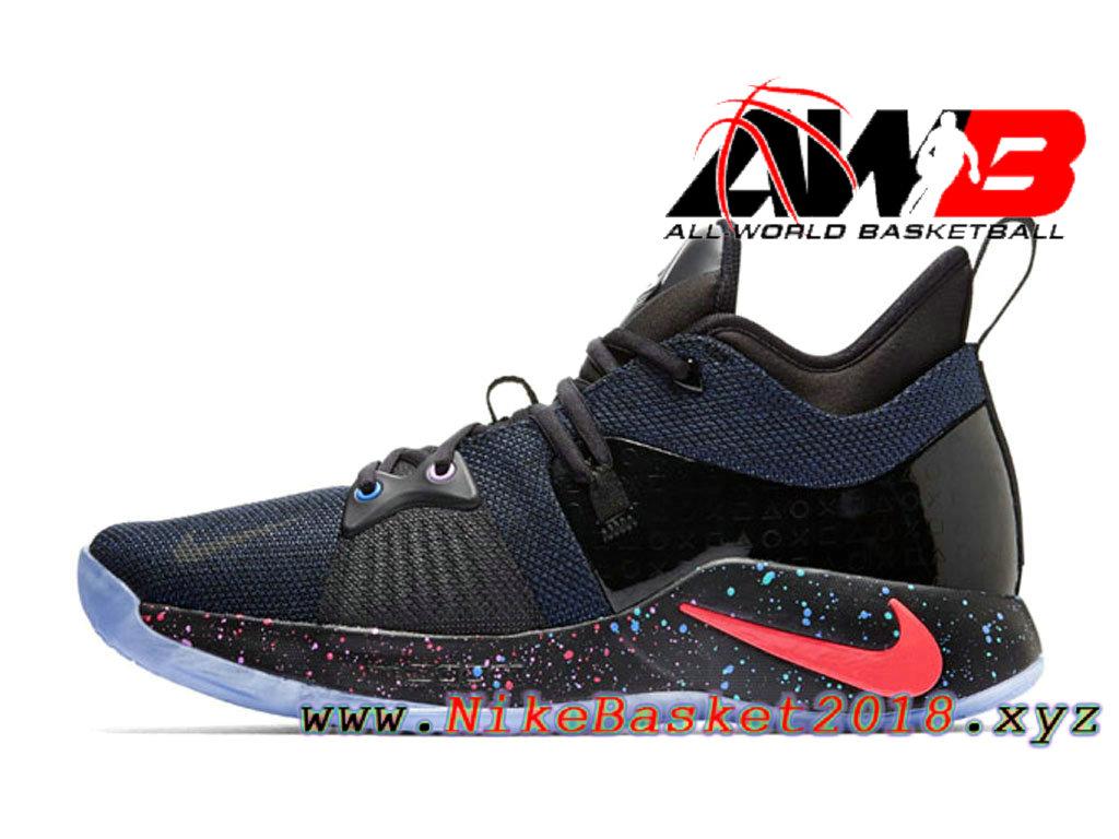 brand new 4fa67 d2b89 Chaussure de BasketBall Pas Cher Pour Homme Nike PG 2 Noir Rose AT7816-002
