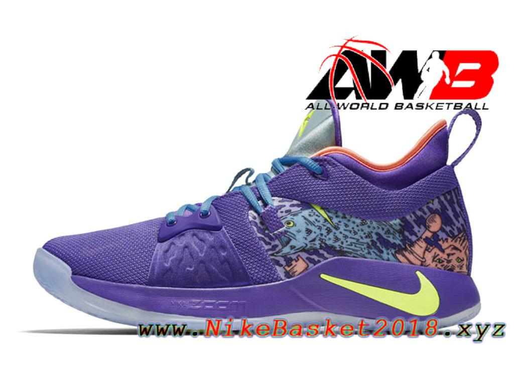innovative design 2d4e9 f53aa Chaussure de BasketBall Pas Cher Pour Homme Nike PG 2 Vert pourpre  AO2985-001