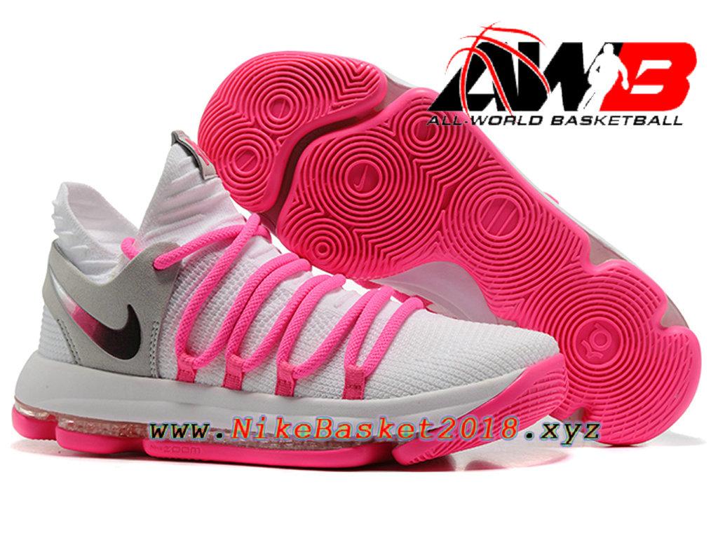 ac2b88e894c ... switzerland chaussure de basketball pas cher pour homme nike zoom kd 10  ep blanc rose 7e9e6