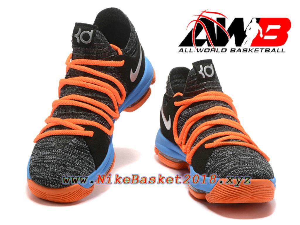 reputable site fd400 96851 ... usa chaussure de basketball pas cher pour homme nike zoom kd 10 ep gris bleu  orange
