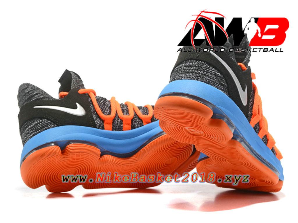 503677ff3f099 ... Chaussure de BasketBall Pas Cher Pour Homme Nike Zoom KD 10 EP Gris  Bleu Orange ...