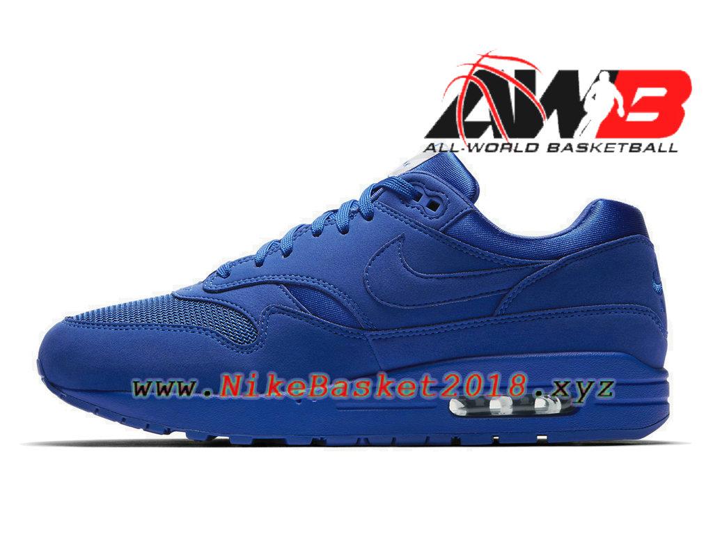 more photos 7a340 fcff6 ... Chaussures de Basket Pas Cher Pour Homme Nike Air Max 1 PRM Bleu 875844-400  ...