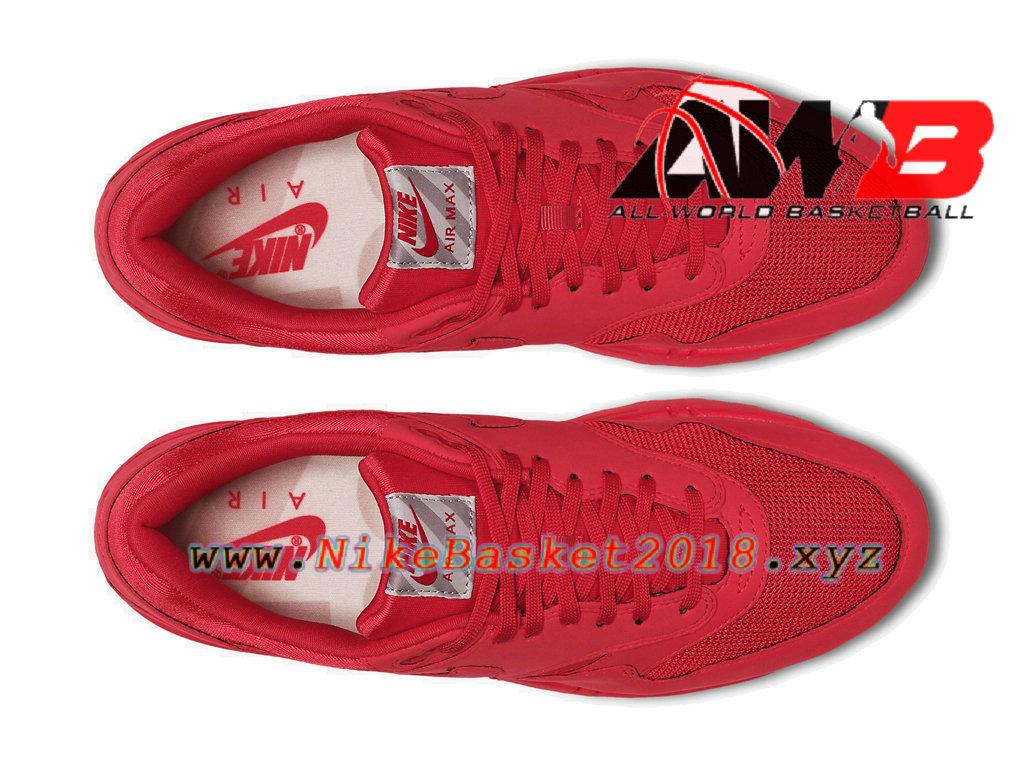 the latest f8193 a2678 ... Chaussures de Basket Pas Cher Pour Homme Nike Air Max 1 PRM Rouge 875844-600  ...