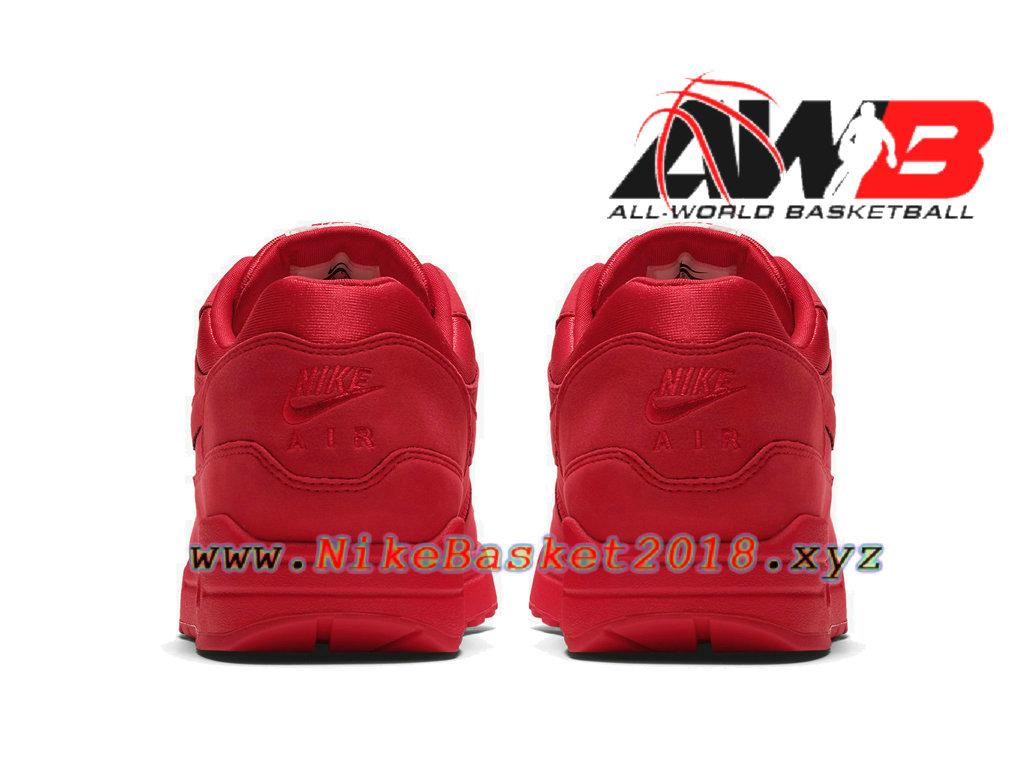 quality design 545d1 f32fe ... Chaussures de Basket Pas Cher Pour Homme Nike Air Max 1 PRM Rouge 875844 -600