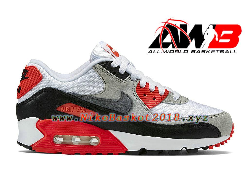 new product fcf03 b9356 Chaussures de BasketBall Pas Cher Pour Femme Enfant Nike Air Max 90 OG GS  Gris
