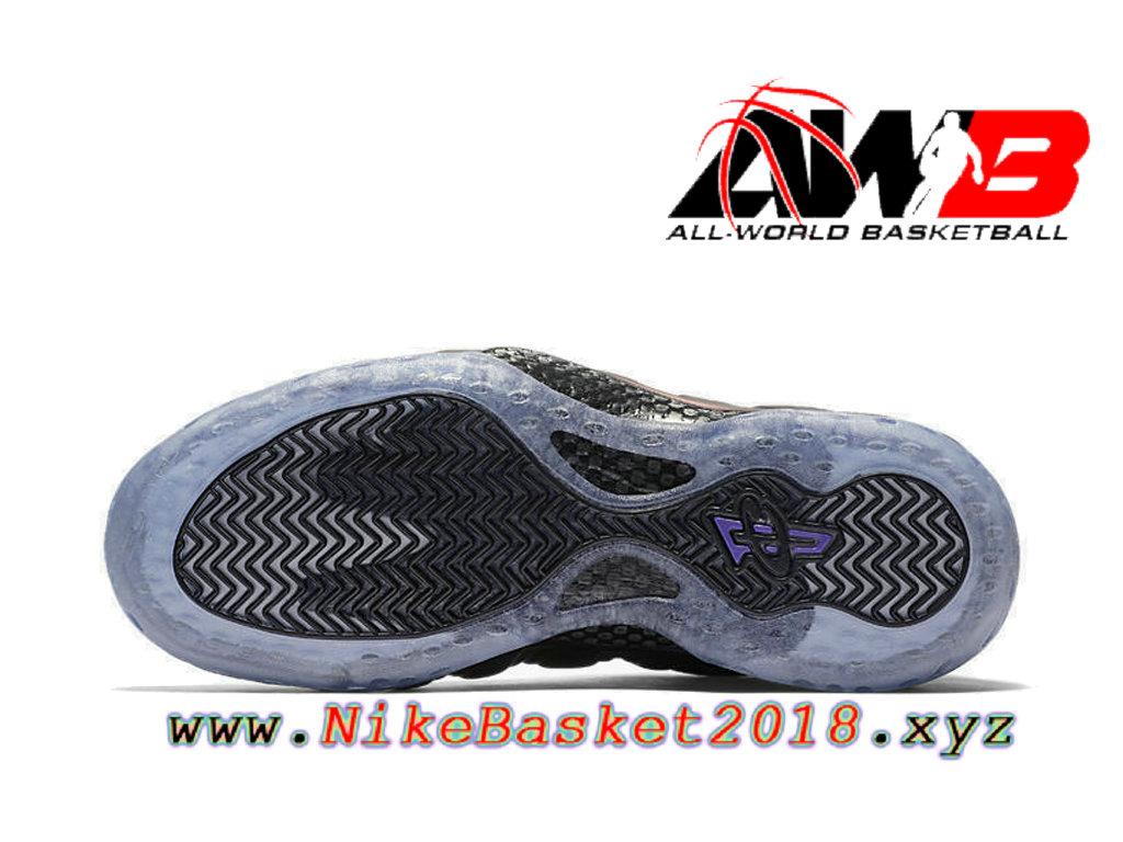 26d947d390a ... Chaussures de BasketBall Pas Cher Pour Homme Nike Air Foamposite One  Eggplant Noir 314996-008 ...