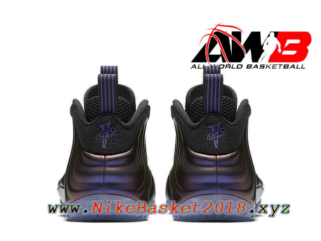 e712d0636fb ... Chaussures de BasketBall Pas Cher Pour Homme Nike Air Foamposite One  Eggplant Noir 314996-008