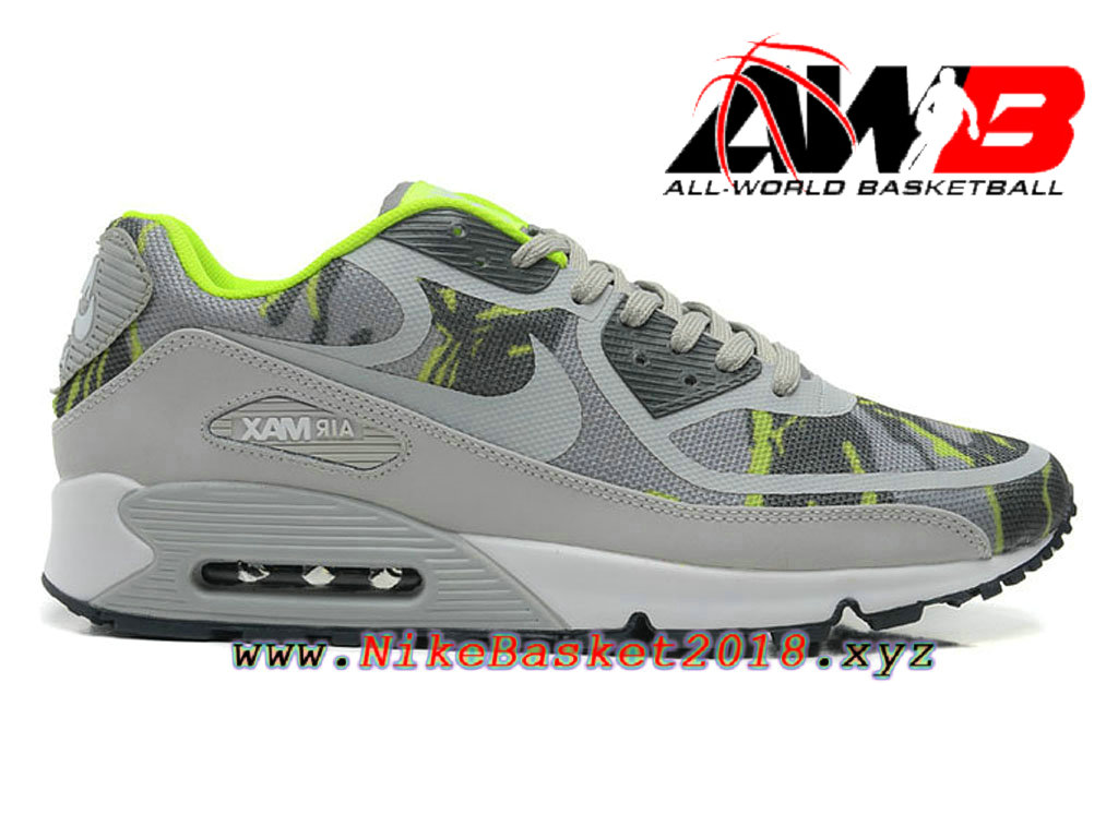 half off 44750 ee609 Chaussures de BasketBall Pas Cher Pour Homme Nike Air Max 90 Premium Tape  Green Camo 599249