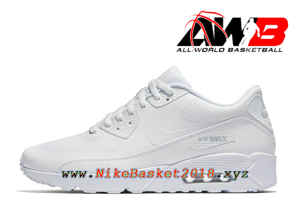 reputable site 33aa4 c5a50 Chaussures de BasketBall Pas Cher Pour Homme Nike Air Max 90 Ultra 2.0  Essential Blanc 875695 101