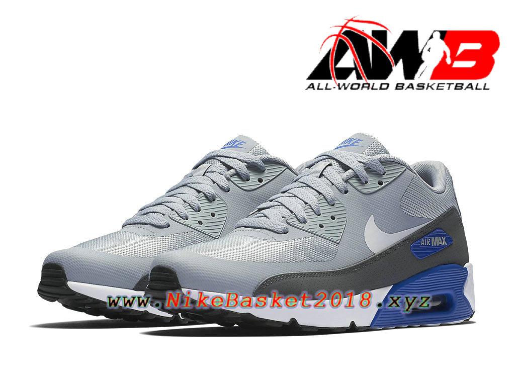 air max grise et bleu
