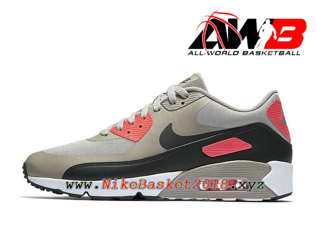 timeless design 7e4c0 04d82 Chaussures de BasketBall Pas Cher Pour Homme Nike Air Max 90 Ultra 2.0  Essential Gris Rouge
