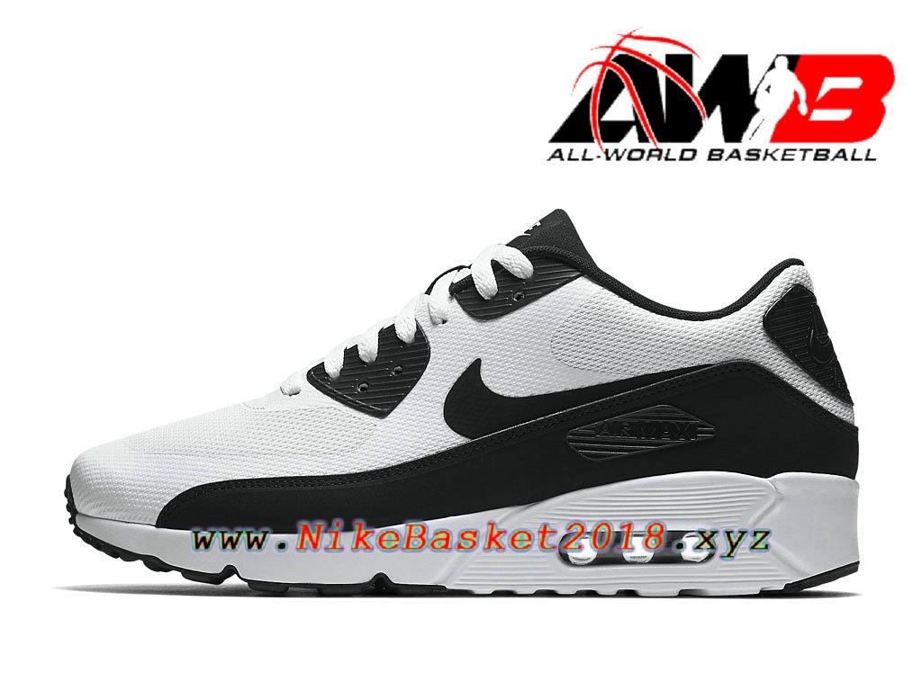 uk availability f305f 94010 Chaussures de BasketBall Pas Cher Pour Homme Nike Air Max 90 Ultra 2.0 Essential  Noir Blanc