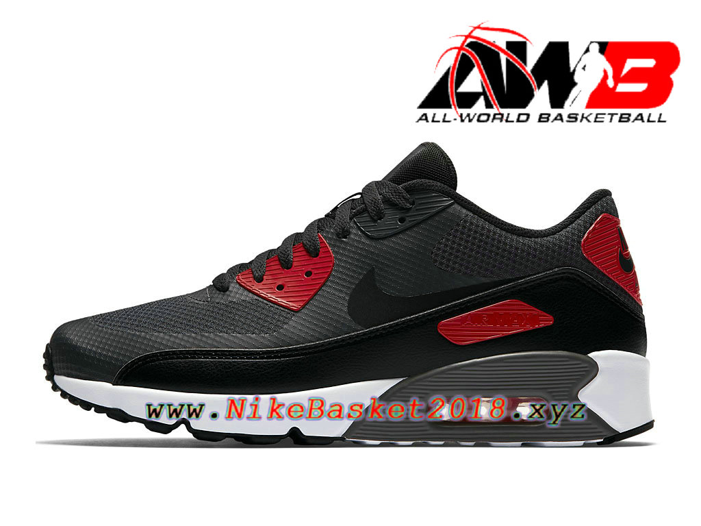 the best attitude 41e0f 2a5f9 Chaussures de BasketBall Pas Cher Pour Homme Nike Air Max 90 Ultra 2.0  Essential Vert Rouge