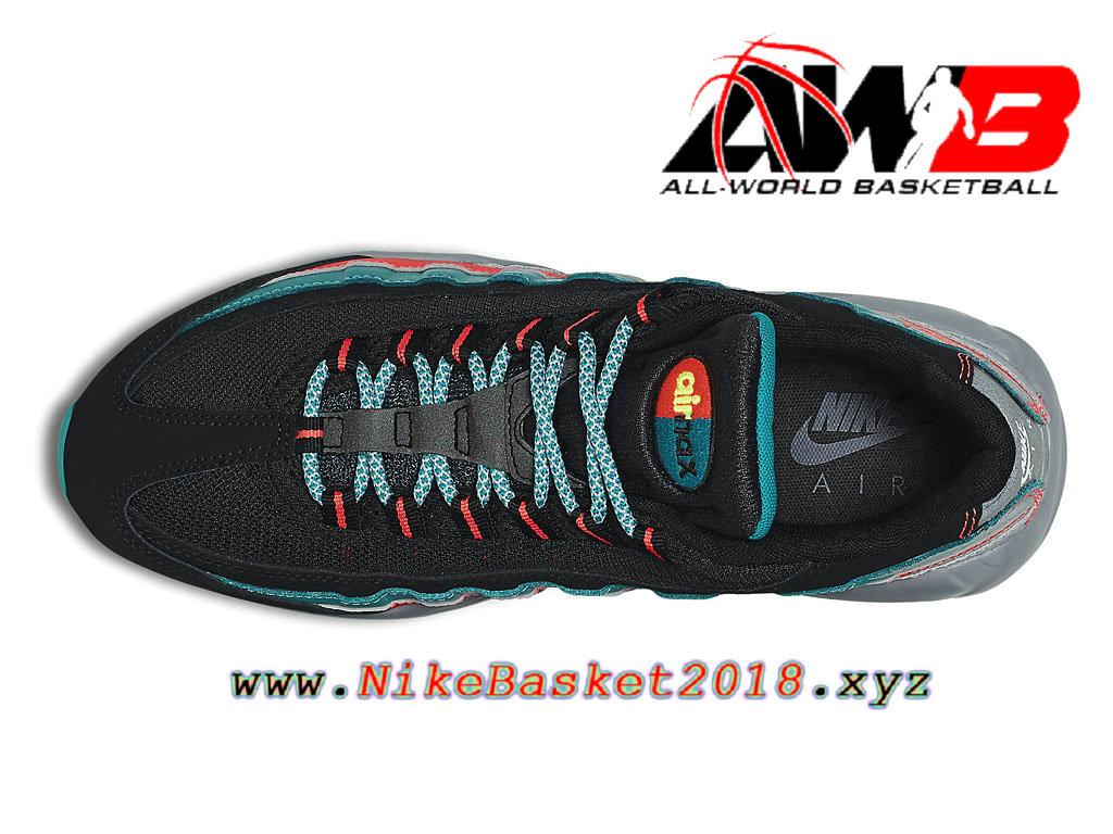 3862768001 ... Chaussures de BasketBall Pas Cher Pour Homme Nike Air Max 95 Essential  Noir Vert Rouge 749766 ...