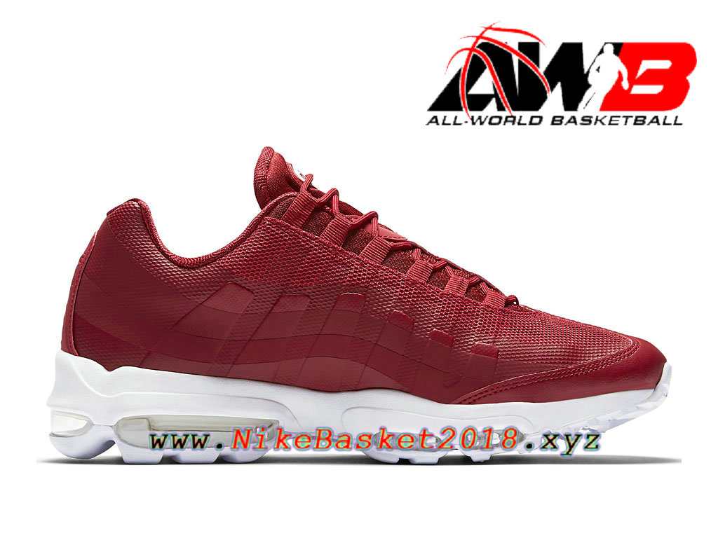 Nike Hommes Air Max 95 Ultra Essential Rouge Chaussures