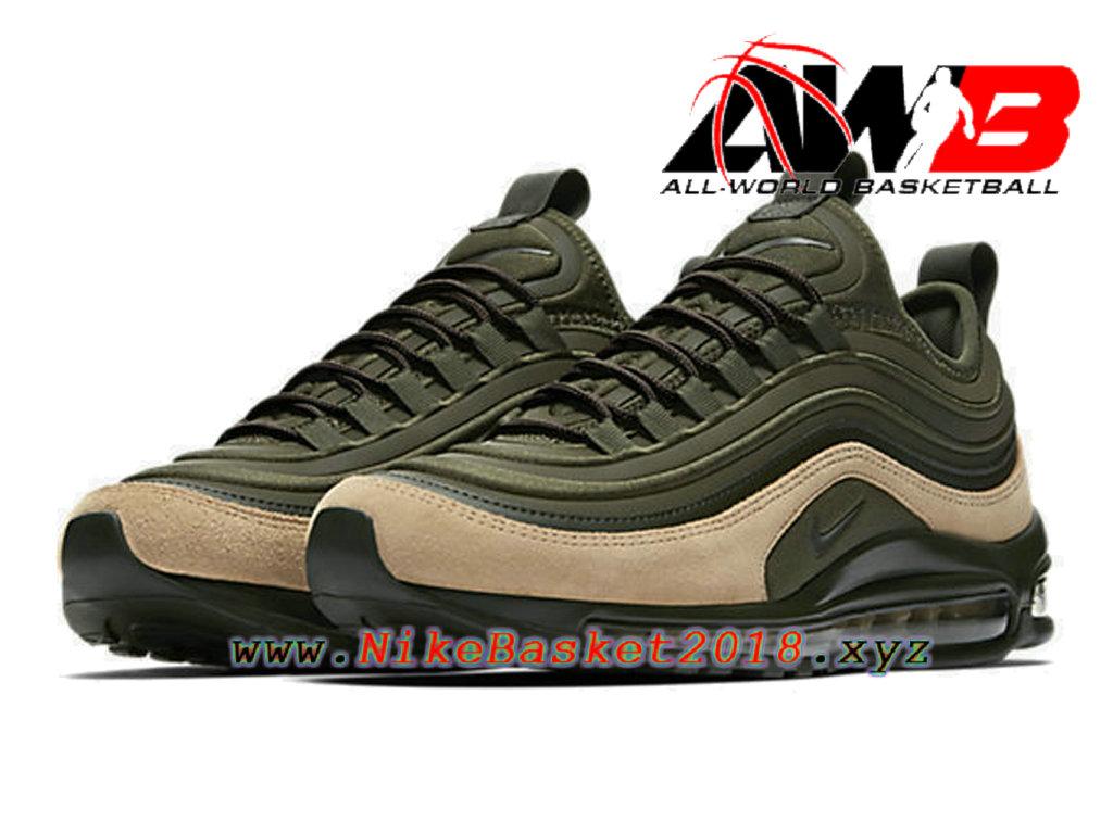best service c98f8 52830 ... Chaussures de BasketBall Pas Cher Pour Homme Nike Air Max 97 Ul ´17 Se  Vert ...