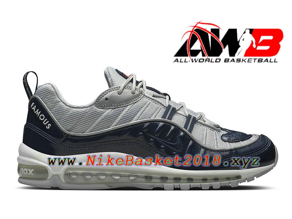 ec3e72202c6 Chaussures de BasketBall Pas Cher Pour Homme Nike Air Max 98 Gris Bleu  844694 400