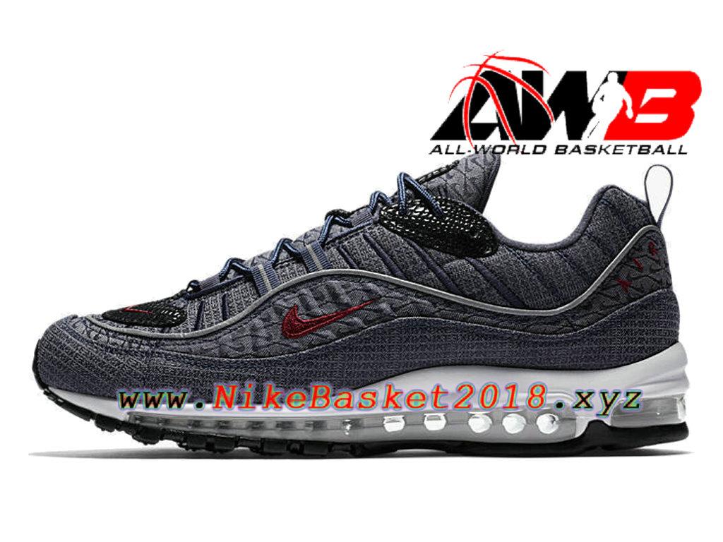 buy online ed7f5 65c68 Chaussures de BasketBall Pas Cher Pour Homme Nike Air Max 98 QS Thunder  Blue 924462-