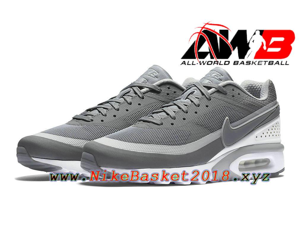 sale retailer ba678 c8080 ... Chaussures de BasketBall Pas Cher Pour Homme Nike Air Max BW Ultra Gris  Blanc 819475011 ...