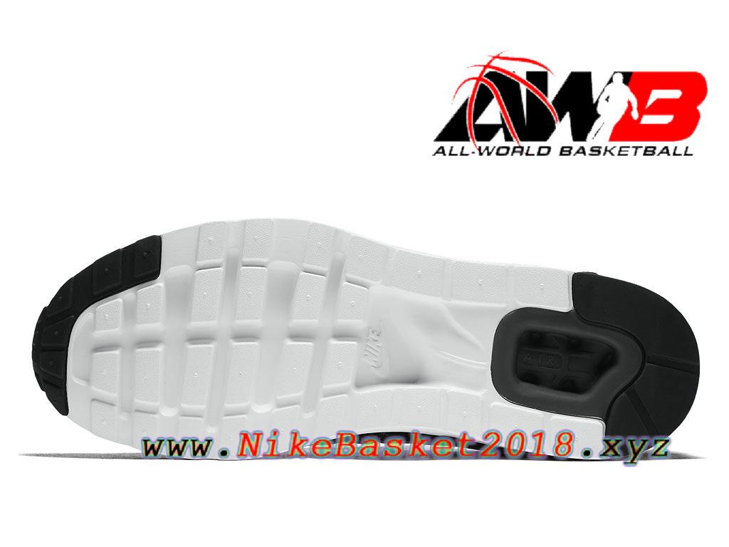 hot sale online 3491e 9b498 ... Chaussures de BasketBall Pas Cher Pour Homme Nike Air Max Zero Noir  Blanc 876070004