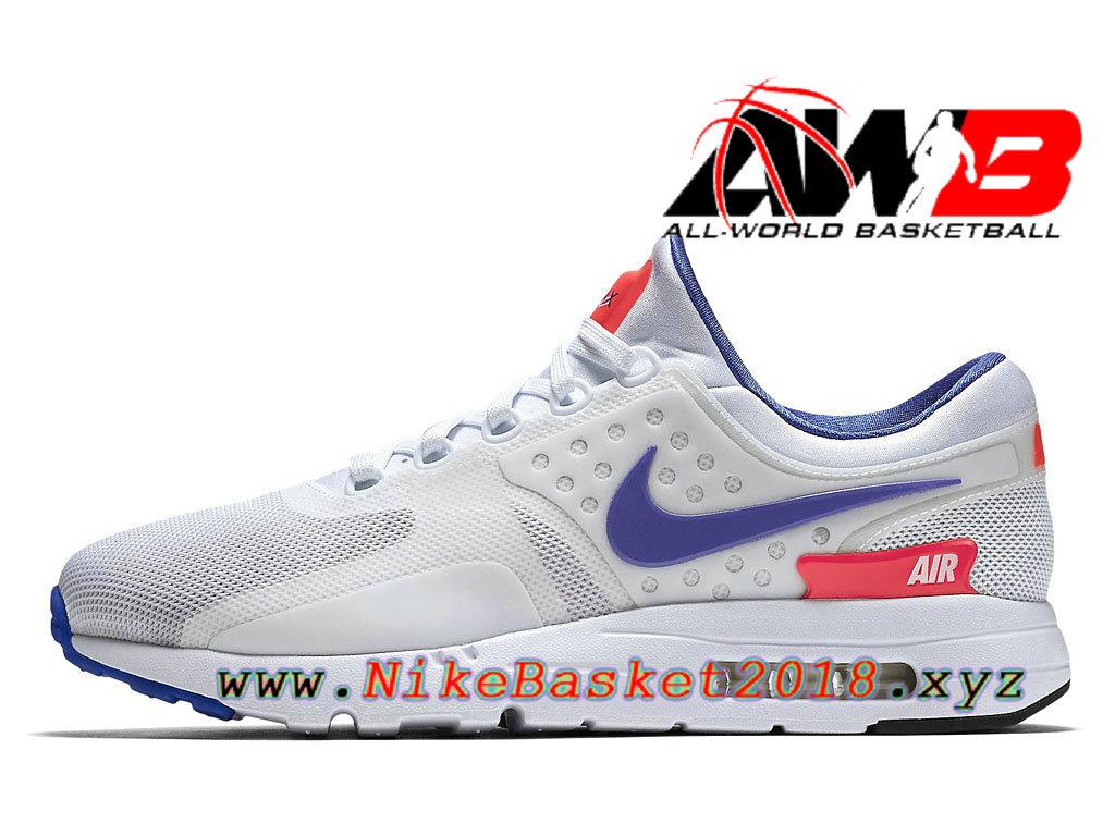 Chaussures de BasketBall Pas Cher Pour Homme Nike Air Max Zero Ultramarine  Blanc Rose 789695 105 e4a3b248af1c