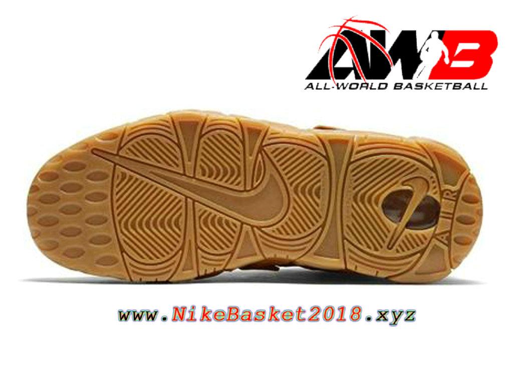 16dcced47f68 ... Chaussures de BasketBall Pas Cher Pour Homme Nike Air More Uptempo Brun  ...