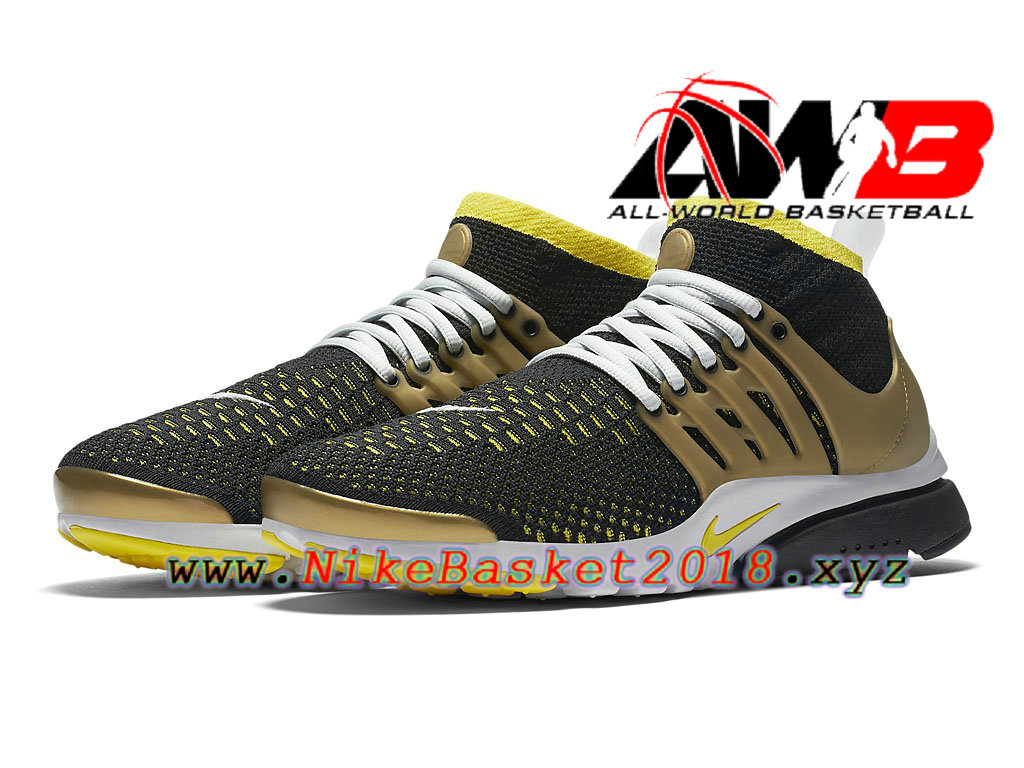 1431f53dd34 ... Chaussures de BasketBall Pas Cher Pour Homme Nike Air Presto Flyknit  Ultra Or Noir 835570 007 ...