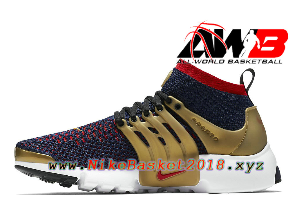 buy popular 27649 d4807 ... Chaussures de BasketBall Pas Cher Pour Homme Nike Air Presto Ultra  Flyknit Olympic Or Rouge 835570 406 ...