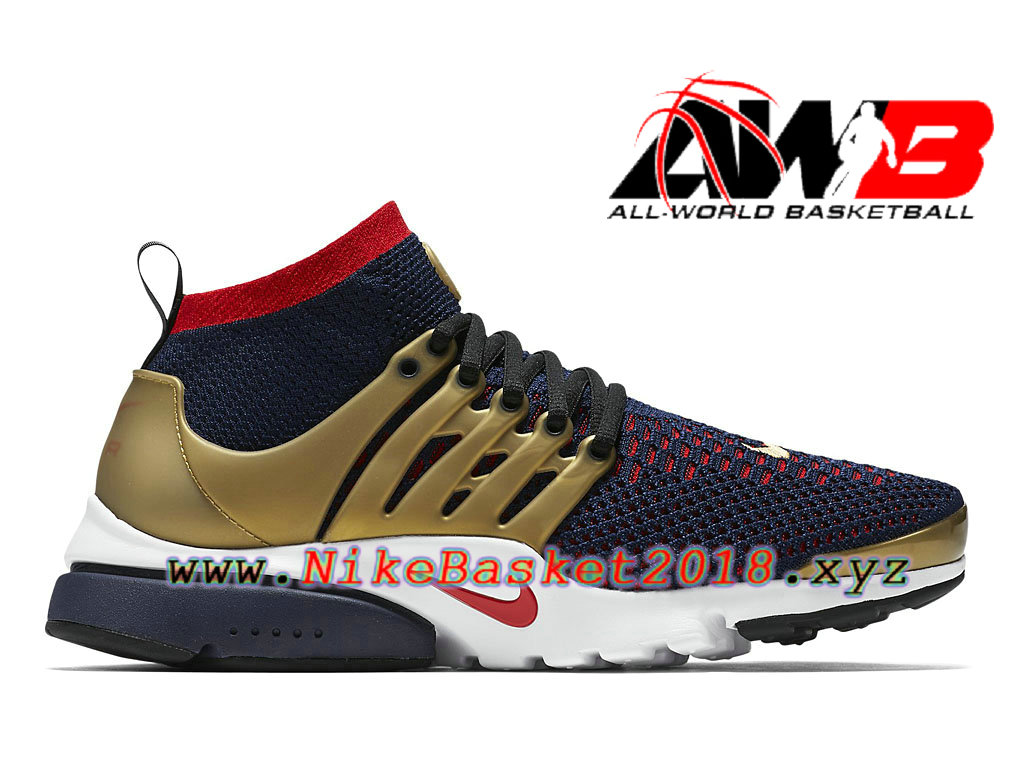 c68c7a5f24b Chaussures de BasketBall Pas Cher Pour Homme Nike Air Presto Ultra Flyknit  Olympic Or Rouge 835570 406 ...
