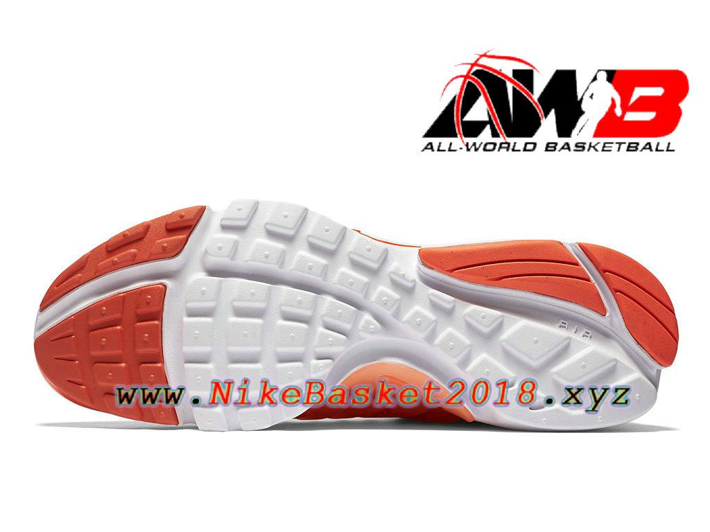 0777eb871992f ... Chaussures de BasketBall Pas Cher Pour Homme Nike Air Presto Ultra  Flyknit Orange Blanc 835570 800