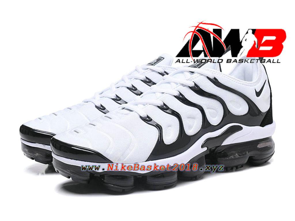 best service e2225 4eb90 Chaussures de BasketBall Pas Cher Pour Homme Nike Air VaporMax Plus 2018  Noir Blanc ...