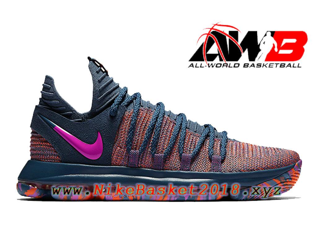 the best attitude fe55d 58dc6 Chaussures de BasketBall Pas Cher Pour Homme Nike KD 10 All-Star Santa  Monica Bleu ...
