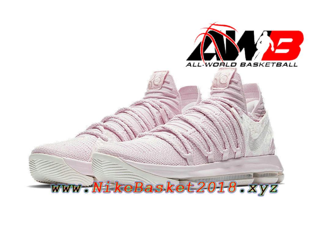 huge discount bf426 a4c2a ... wholesale chaussures de basketball pas cher pour homme nike kd 10 aunt  pearl rose aq4110 600 ...