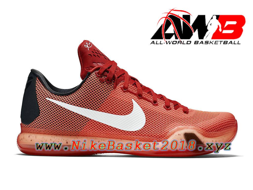 new concept 32e6b 5f639 Chaussures de BasketBall Pas Cher Pour Homme Nike Kobe 10 Orange Noir  705317_616 ...