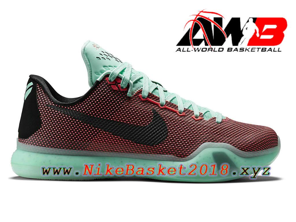 wholesale dealer f326f 3c796 Chaussures de BasketBall Pas Cher Pour Homme Nike Kobe X Rouge Vert  705317-808 ...
