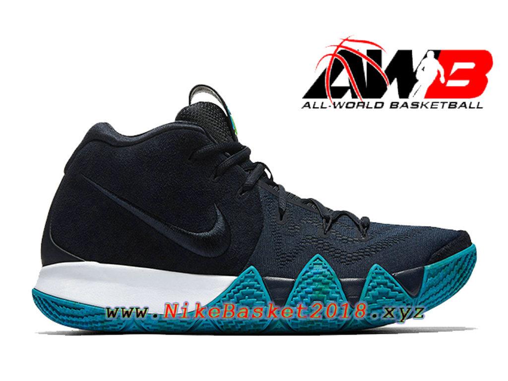 best service 939dc 1dac3 Chaussures de BasketBall Pas Cher Pour Homme Nike Kyrie 4 Obsidian Noir  Bleu 943806-401