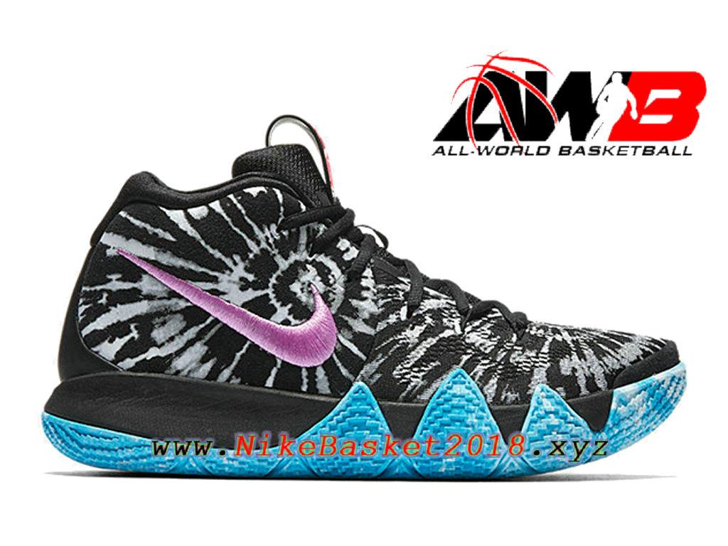pretty nice b1cd8 6769a Chaussures de BasketBall Pas Cher Pour Homme Nike Kyrie 4 Tie Dye Noir Bleu  AQ8623-