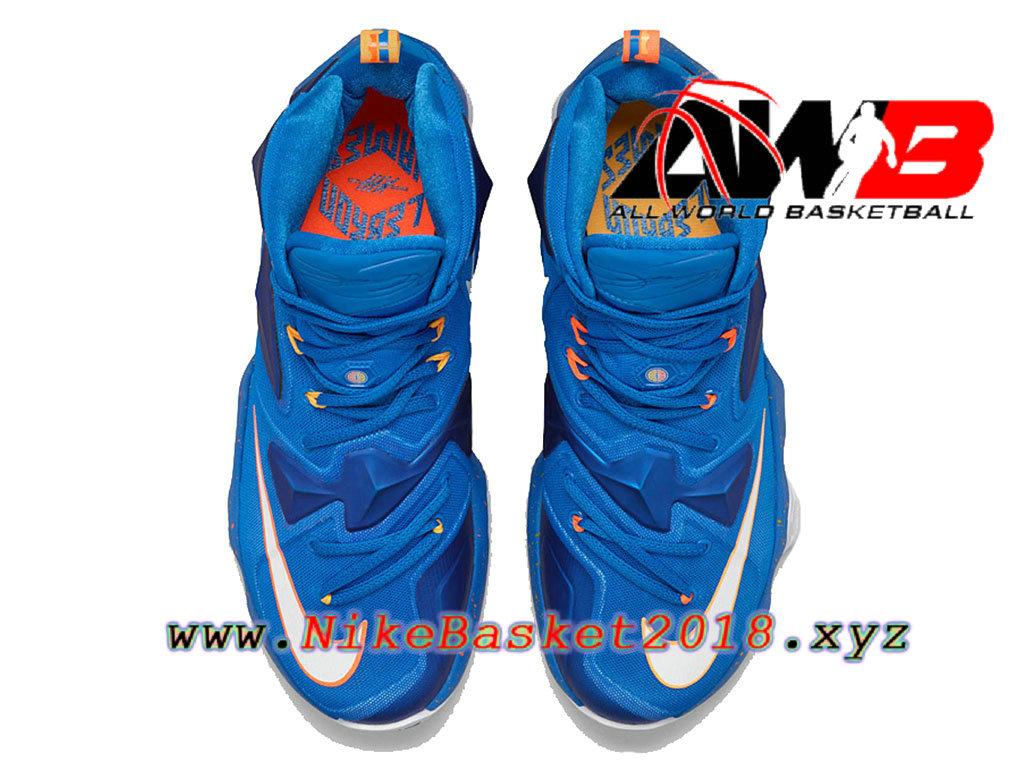 pretty nice 776a1 2e44e ... Chaussures de BasketBall Pas Cher Pour Homme Nike LeBron 13 Balance Bleu  807219-418 ...