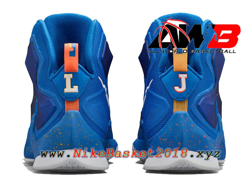 best service 290c1 b8721 ... Chaussures de BasketBall Pas Cher Pour Homme Nike LeBron 13 Balance Bleu  807219-418