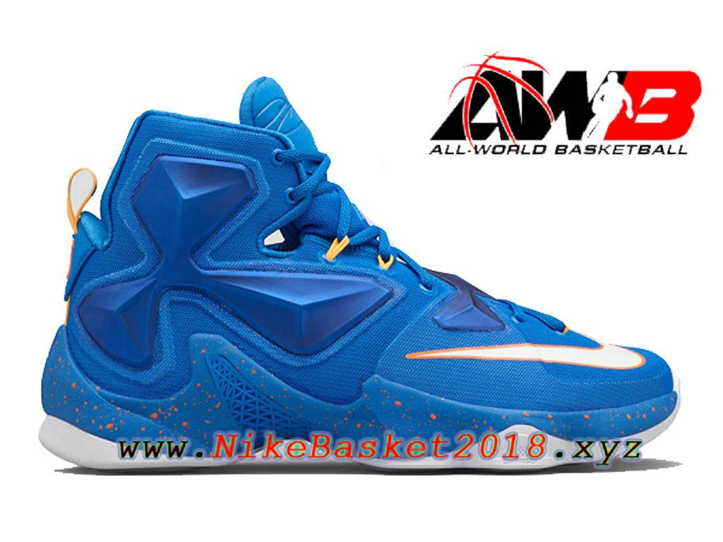 finest selection d7a66 b9b0c Chaussures de BasketBall Pas Cher Pour Homme Nike LeBron 13 Balance Bleu  807219-418 ...