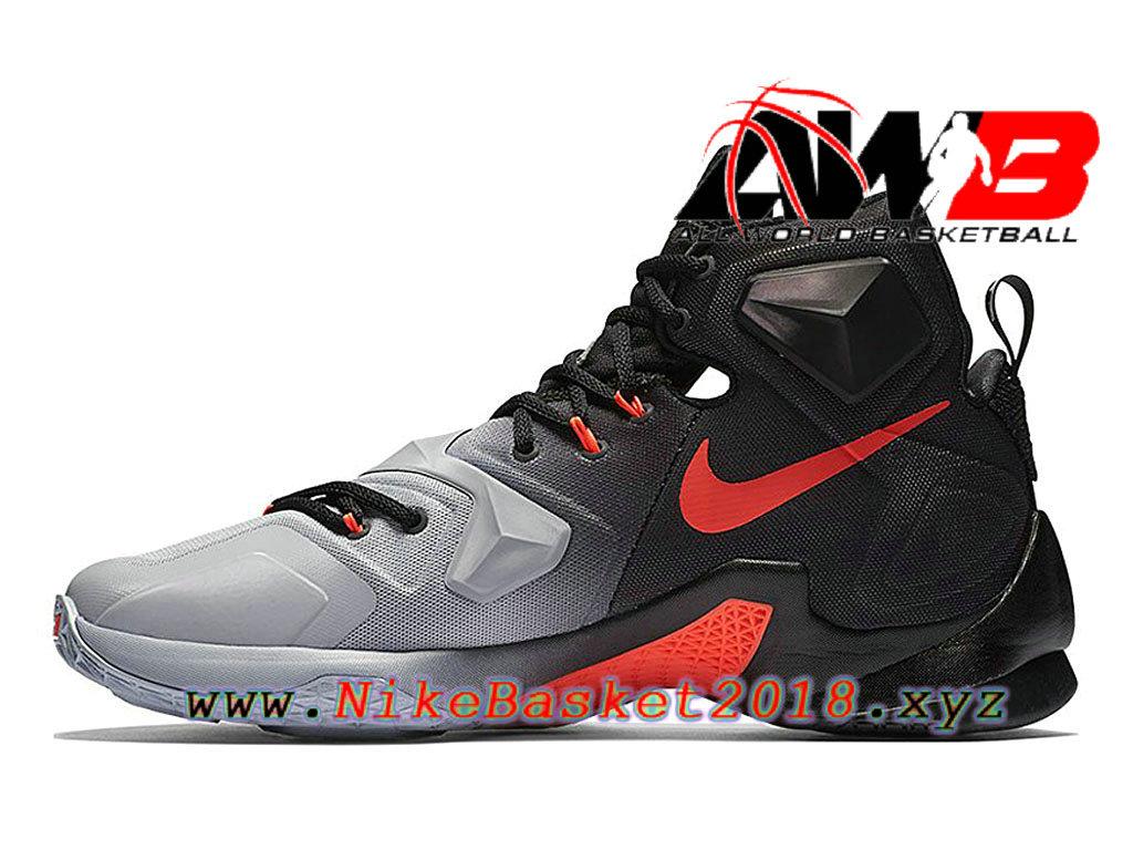 online store aa642 4c9ec ... Chaussures de BasketBall Pas Cher Pour Homme Nike LeBron 13 On Court  Noir 807219_060 ...