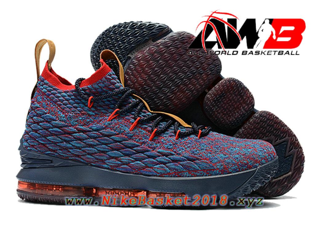 8958b2a0a229a ... Chaussures de BasketBall Pas Cher Pour Homme Nike LeBron 15 Prix Bleu Rouge  897648-ID14 ...