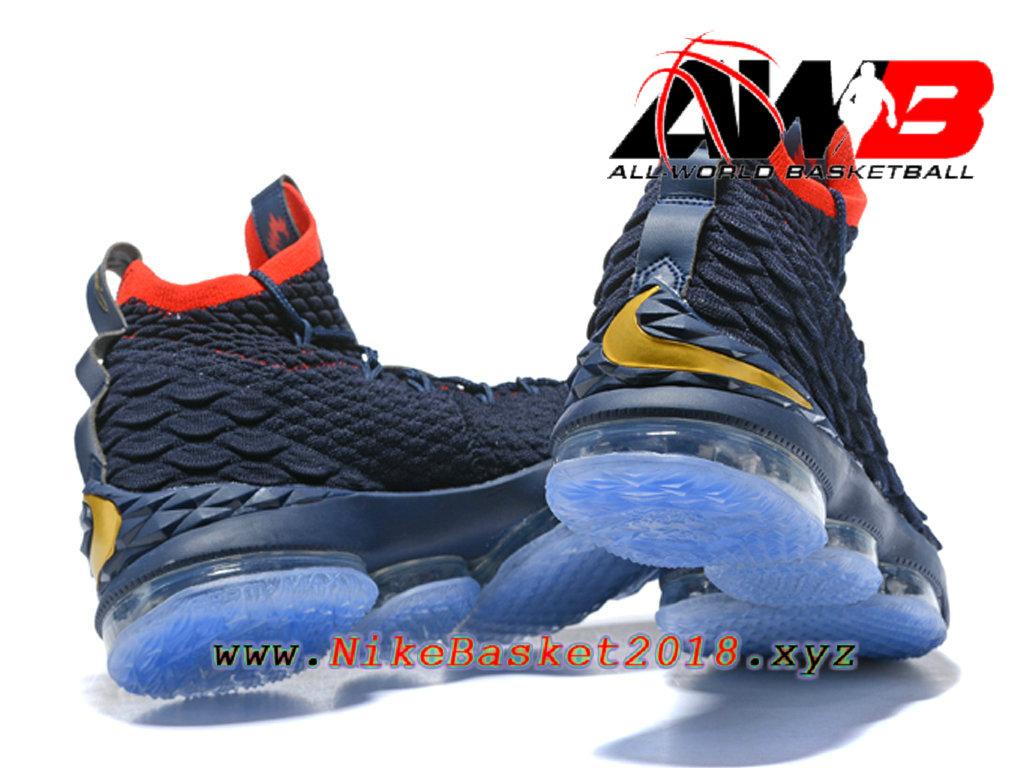 823a3d4c63ecb ... Chaussures de BasketBall Pas Cher Pour Homme Nike LeBron 15 Prix Bleu Rouge  897648-ID26 ...